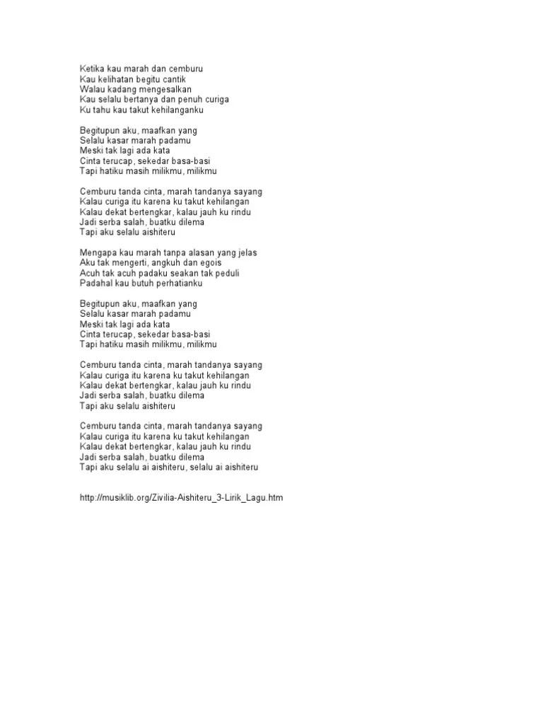 Lirik Lagu Aishiteru 3 : lirik, aishiteru, Aishiteru, Lirik