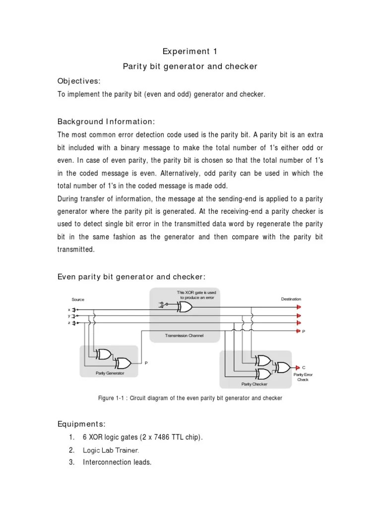circuit diagram 3 bit parity generator [ 768 x 1024 Pixel ]