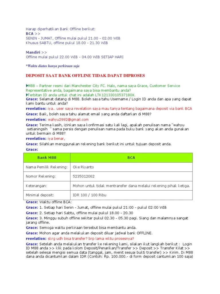 Jam Offline Bca : offline, Harap, Diperhatikan, Offline, Berikut