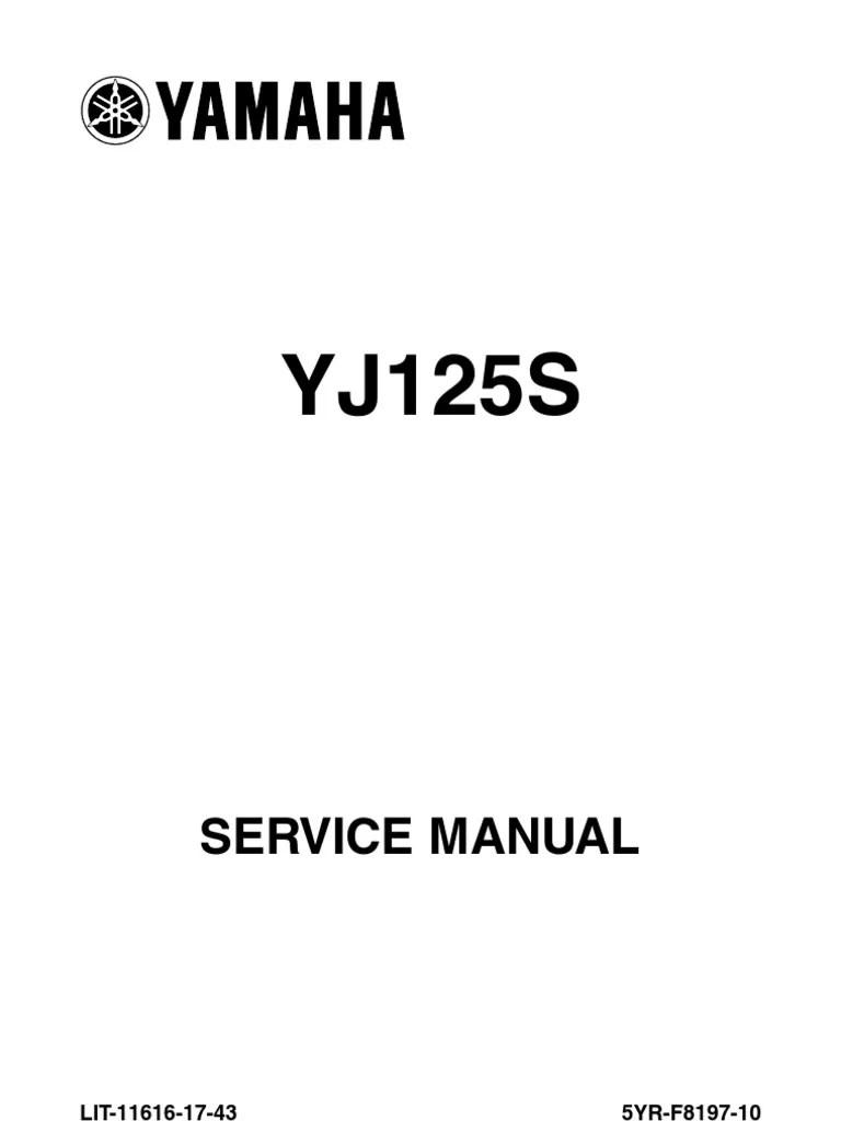 yamaha vino 125 yj125 yj125s workshop manual 2003 2010 pdf screw piston [ 768 x 1024 Pixel ]