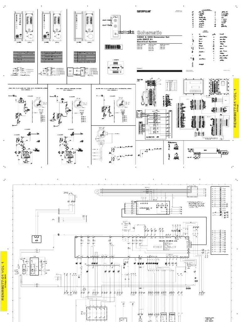 hight resolution of cat 3406c generator wiring diagram
