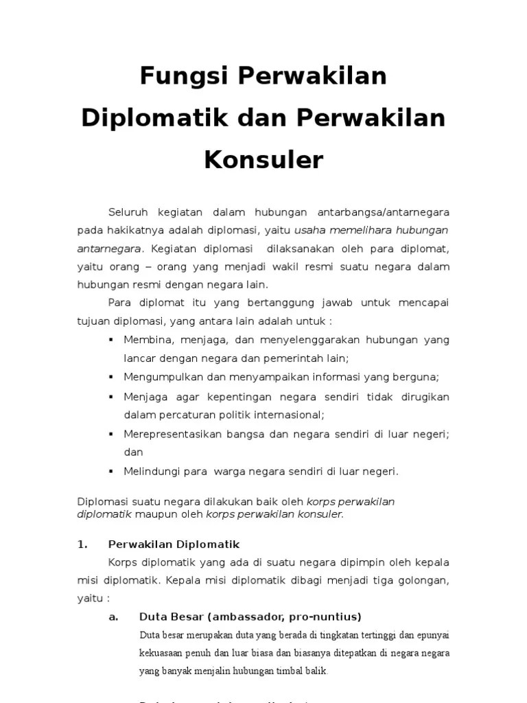 Sebutkan Fungsi Perwakilan Diplomatik : sebutkan, fungsi, perwakilan, diplomatik, Fungsi, Perwakilan, Diplomatik, Konsuler, Beserta, Perbedaannya