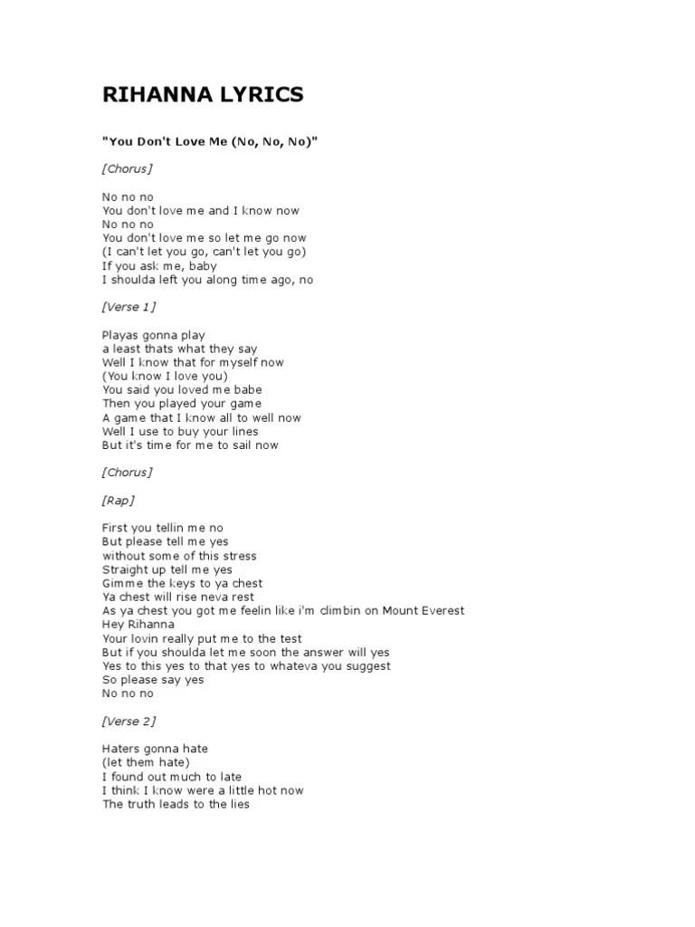 Love And Affection Lyrics Rihanna : affection, lyrics, rihanna, Rihanna, Lyrics, Leisure