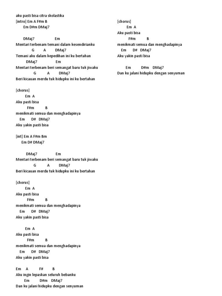 Kunci Gitar Tip X : kunci, gitar, Chord