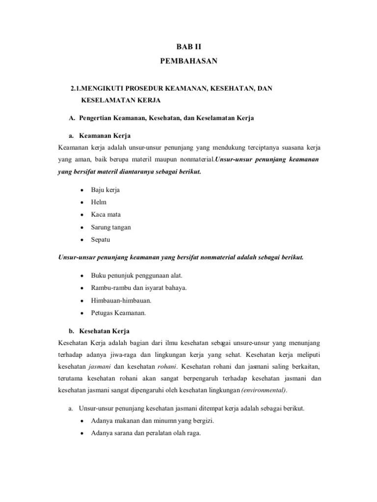 Unsur Unsur Penunjang Keselamatan Kerja : unsur, penunjang, keselamatan, kerja, 46943442, Keamanan, Kesehatan, Keselamatan, Kerja
