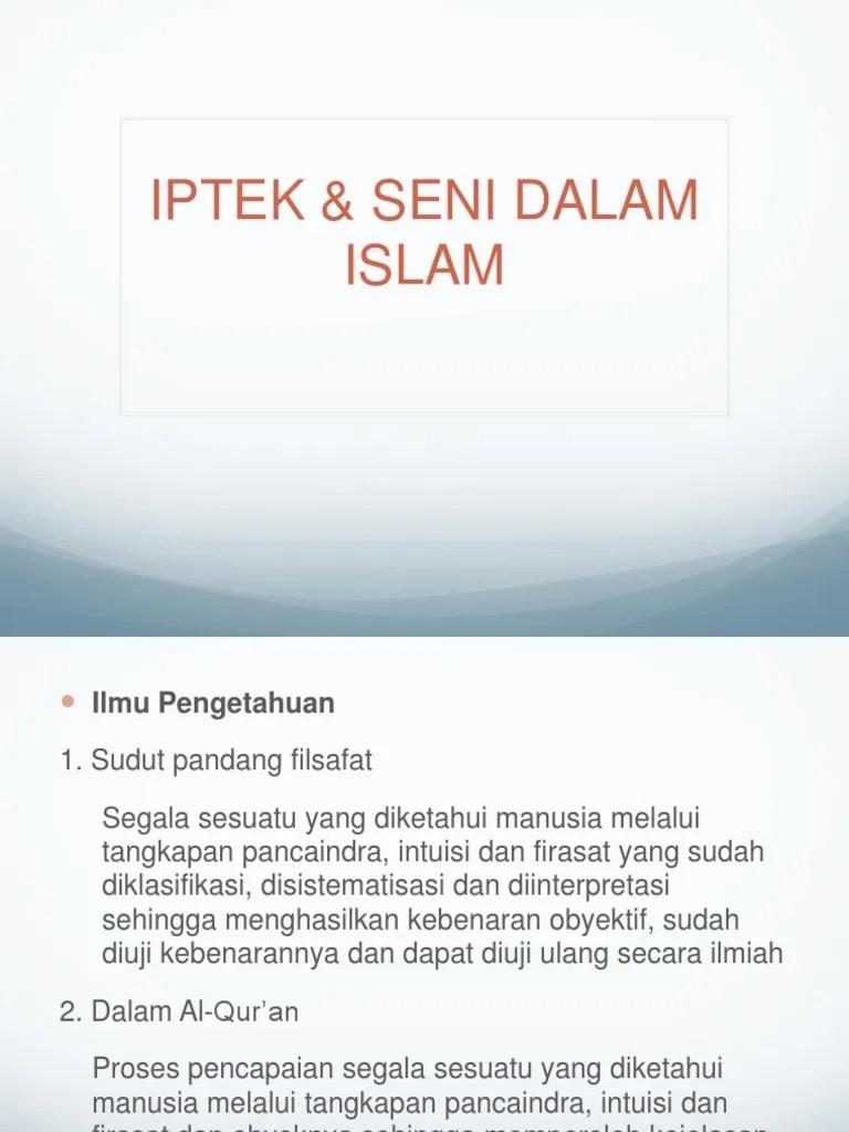 Iptek Dan Seni Dalam Islam : iptek, dalam, islam, IPTEK, Dalam, Islam