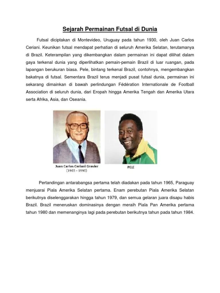 Sejarah Futsal : sejarah, futsal, Sejarah, Futsal