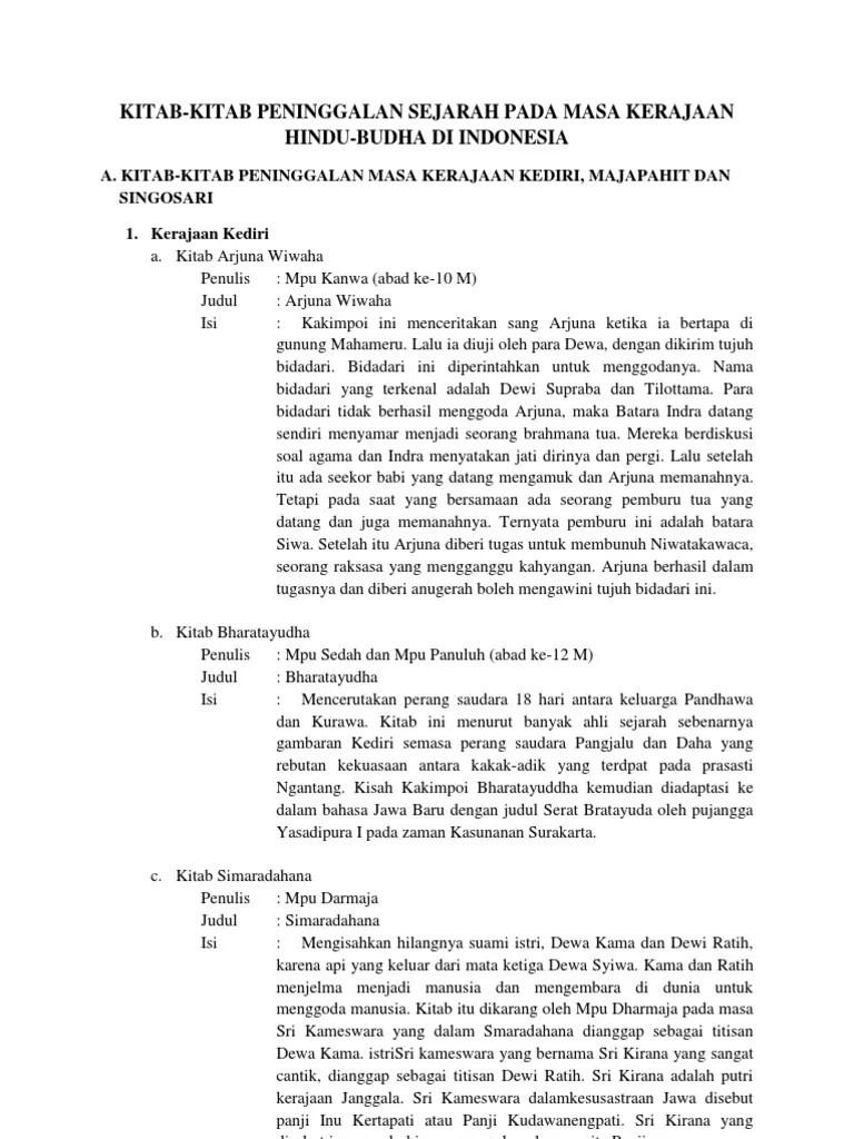 Penulis Kitab Bharatayudha : penulis, kitab, bharatayudha, Kitab-kitab, Peninggalan, Kerajaan, Hindi-Budha