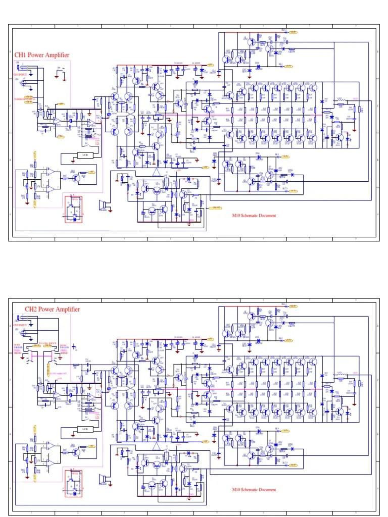 hight resolution of crown amp schematic