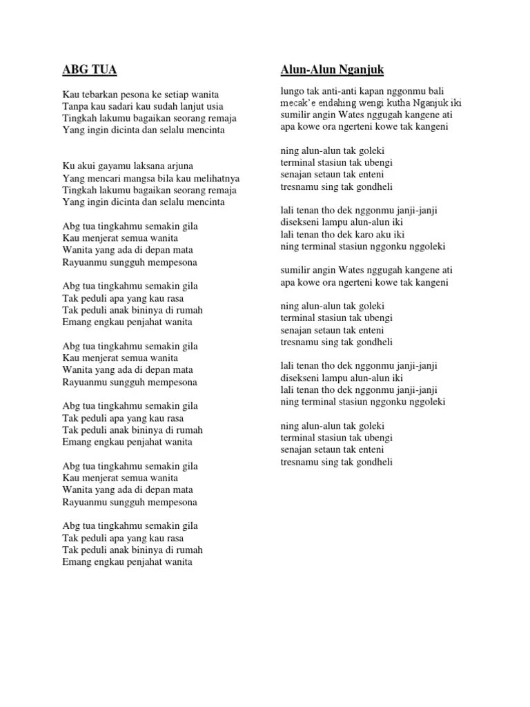 Lirik Lagu Demi Nyai : lirik, Lirik