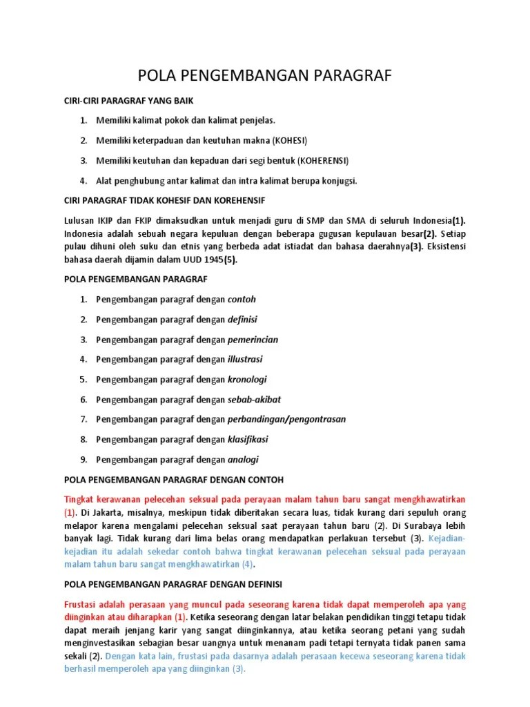 Jenis Pengembangan Paragraf : jenis, pengembangan, paragraf, Pengembangan, Paragraf