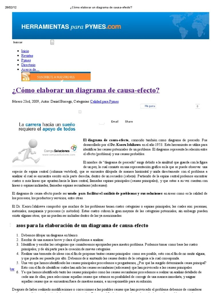 medium resolution of  c mo elaborar un diagrama de causa efecto pdf