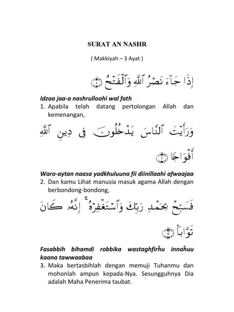 Surat An Nashr Dan Artinya : surat, nashr, artinya, Surat, Nasr.pdf