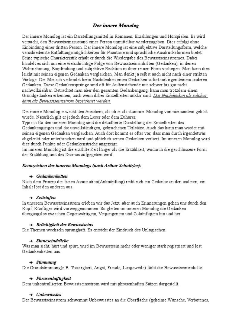 Schreiben Innerer Monolog Beispieltexte Pdf / Kreatives Schreiben ...