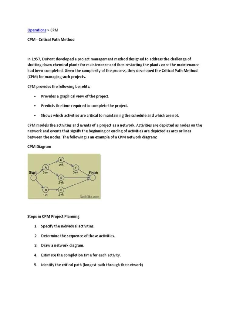 medium resolution of cpm critical path diagram