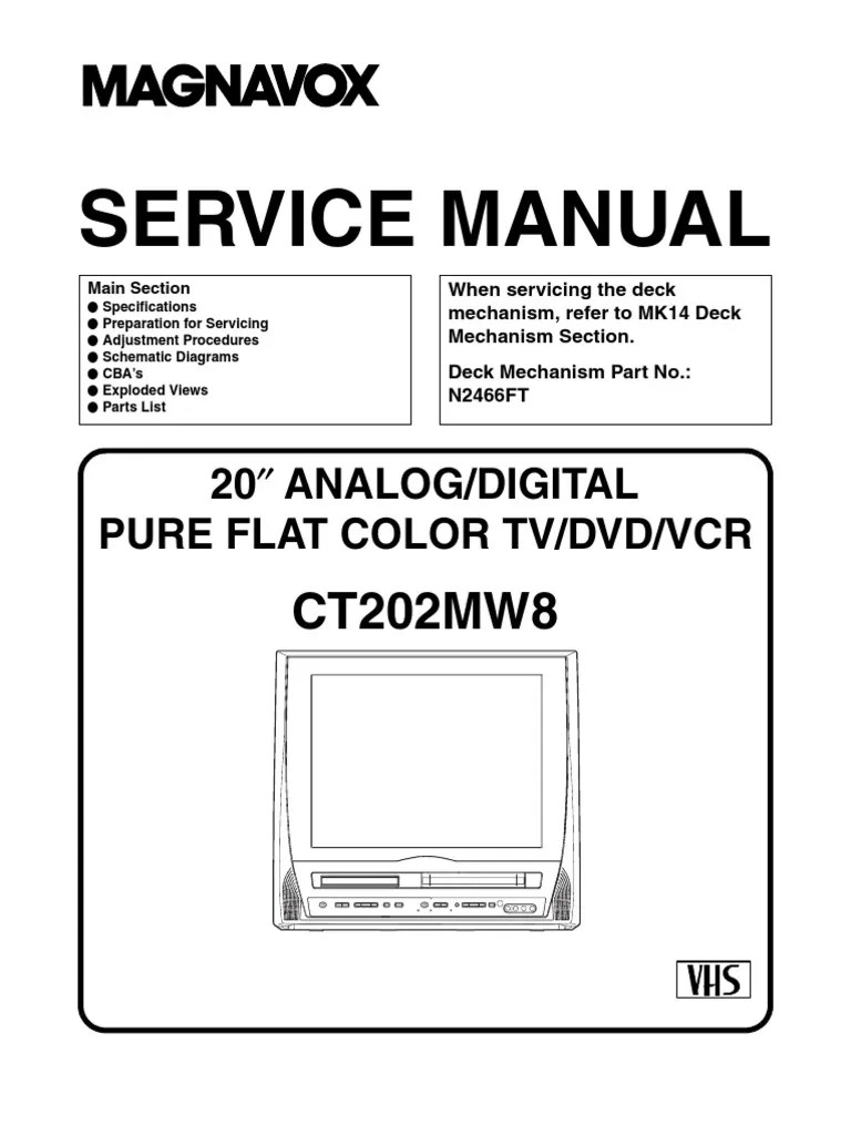 magnavox ct202mw8 tv dvd vcr sm electrical connector soldering magnavox tv schematic diagram [ 768 x 1024 Pixel ]