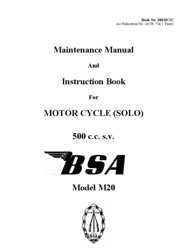 small resolution of bsa m20 wiring diagram