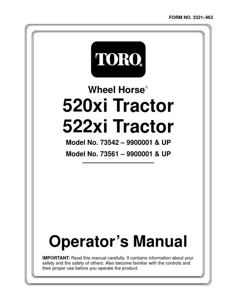 Toro 518XI, 520XI, 522XI Owners Manual