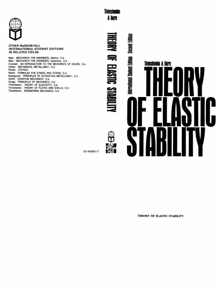 Theory of Elastic Stability Timoshenko & Gere McGrawHill
