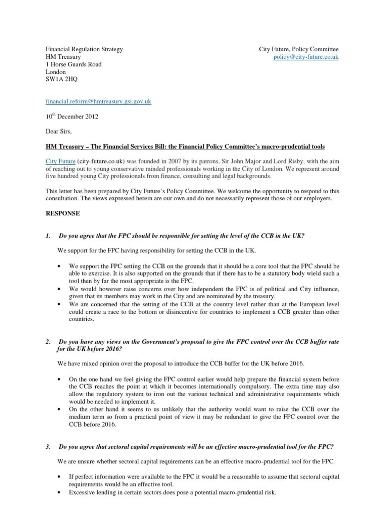 The Financial Services Bill: the Financial Policy Committee's macro-prudential tools   Market Liquidity   Capital Requirement