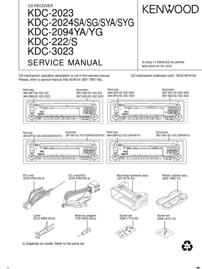 kenwood kdc2023 2024 2094 222 3023 power supply signal electrical engineering  [ 768 x 1024 Pixel ]