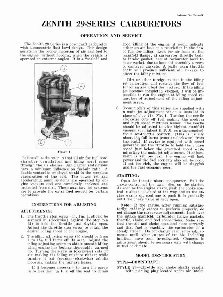 zenith carburetor diagram [ 768 x 1024 Pixel ]