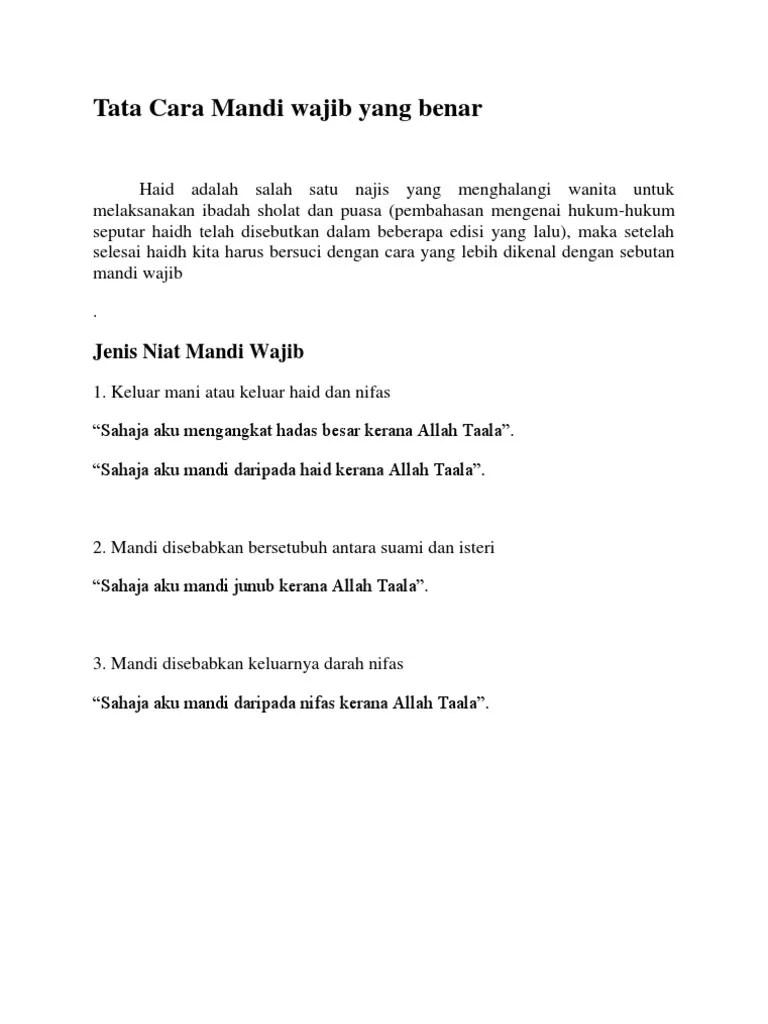 Cara Mandi Wajib Haid Yang Benar : mandi, wajib, benar, Mandi, Wajib, Benar