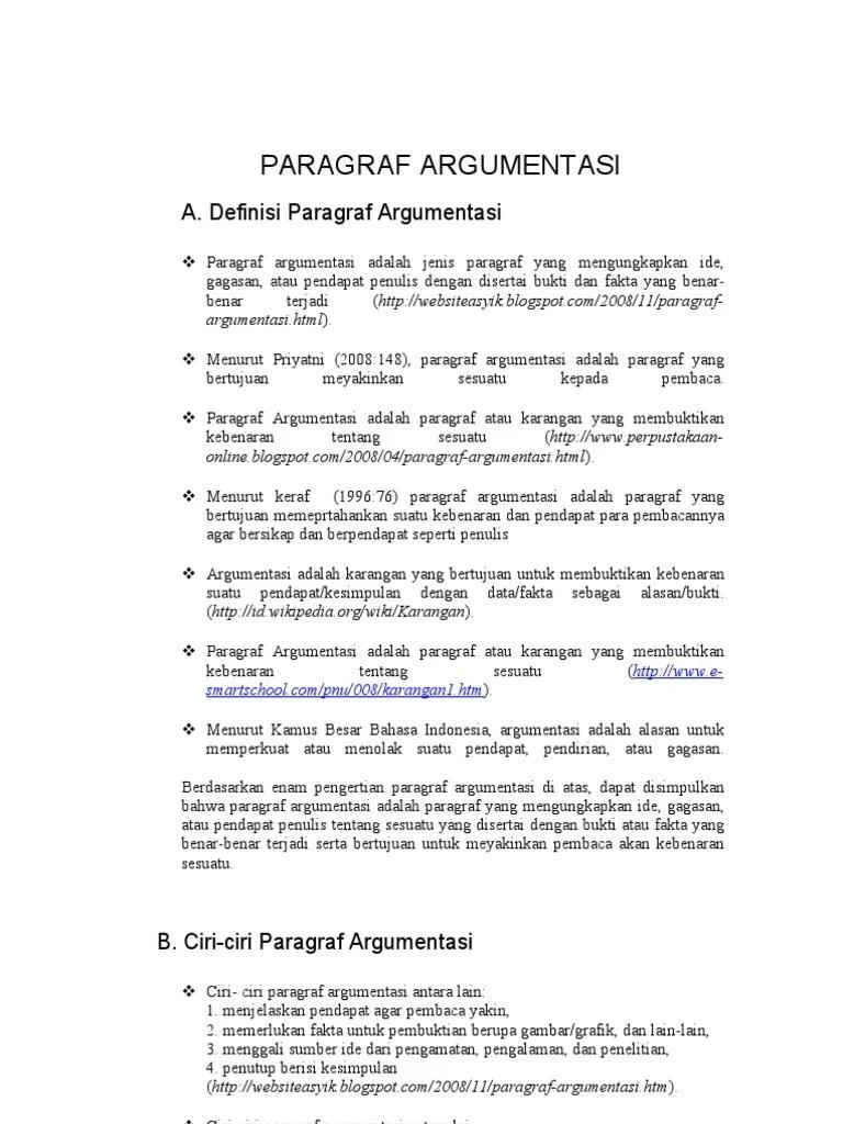 Pengertian Teks Argumentasi : pengertian, argumentasi, PARAGRAF, ARGUMENTASI