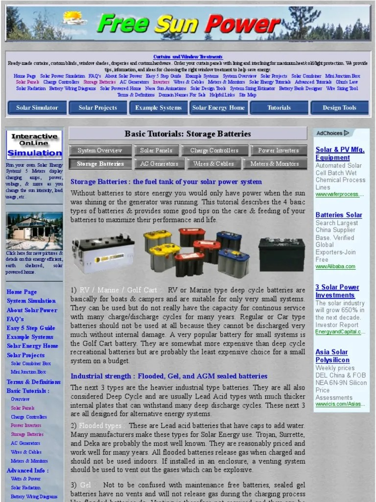 basic tutorials batteries for solar energy systems battery electricity solar power [ 768 x 1024 Pixel ]