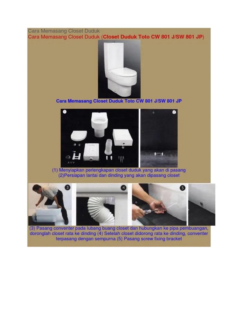Cara Memasang Closet Duduk : memasang, closet, duduk, Memasang, Closet, Duduk