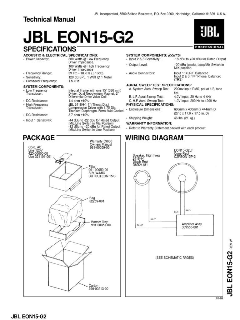 small resolution of jbl eon wiring diagram