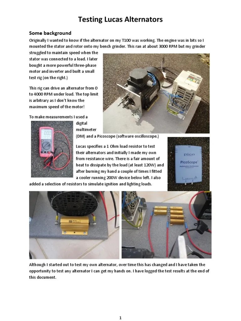 medium resolution of testing lucas alternators aug 2013 electrical resistance and conductance volt