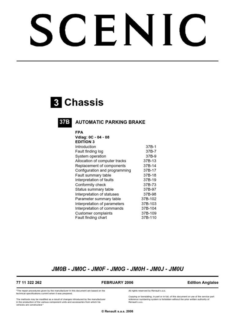 renault scenic parking brake wiring diagram parking brake fault renault scenic best brake 2018rh [ 768 x 1024 Pixel ]