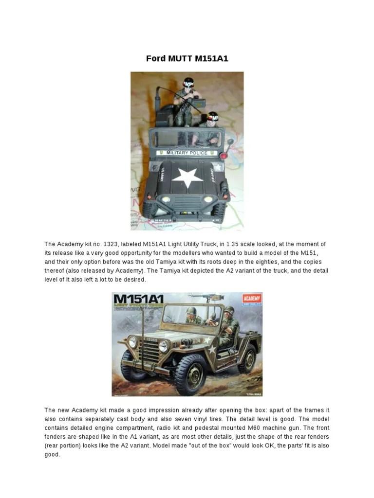 ford mutt m151a1 military police steering rh scribd com electrical wiring diagram m151a1 m151a1 wiring diagram 1966 [ 768 x 1024 Pixel ]