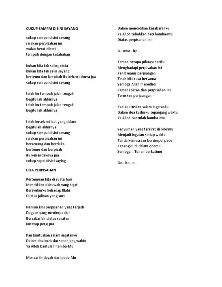 Lirik Lagu Waktu Tuhan Bukan Waktu Kita : lirik, waktu, tuhan, bukan, Lirik