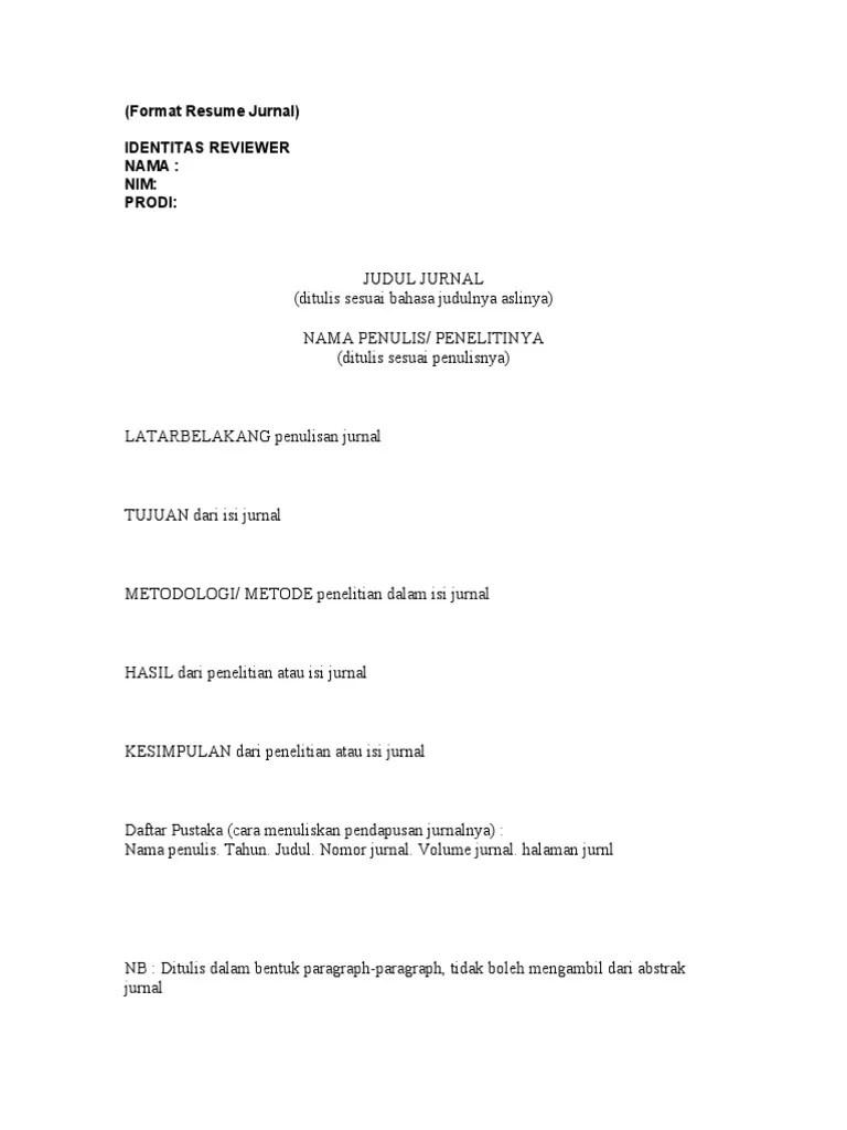 Contoh Resume Artikel : contoh, resume, artikel, Format, Resume, Jurnal