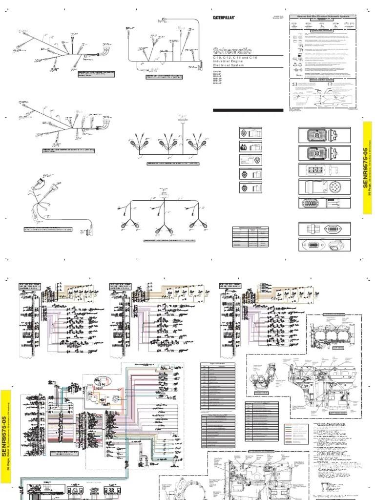 medium resolution of cat c12 c13 c15 electric schematic electrical connector mix cat c12 c13