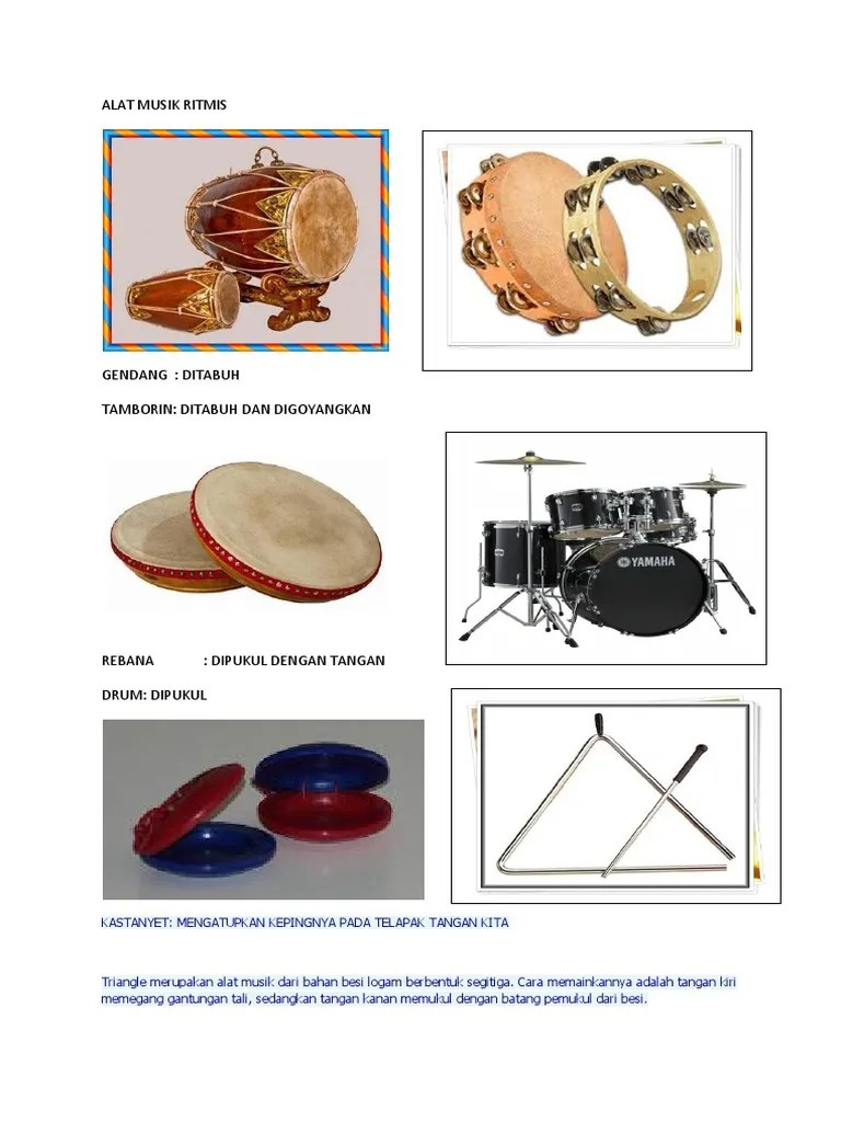 Gambar Alat Musik Tamborin : gambar, musik, tamborin, Musik, Ritmis