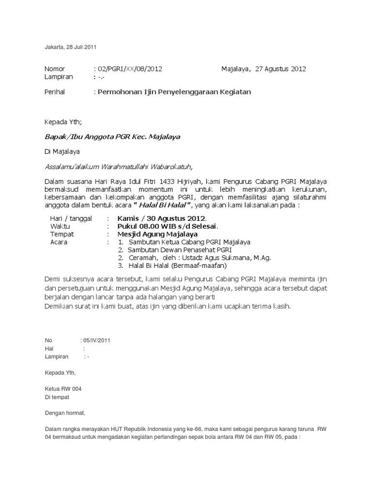 Contoh Surat Izin Keramaian Rt Rw : contoh, surat, keramaian, Contoh, Surat, Tempat