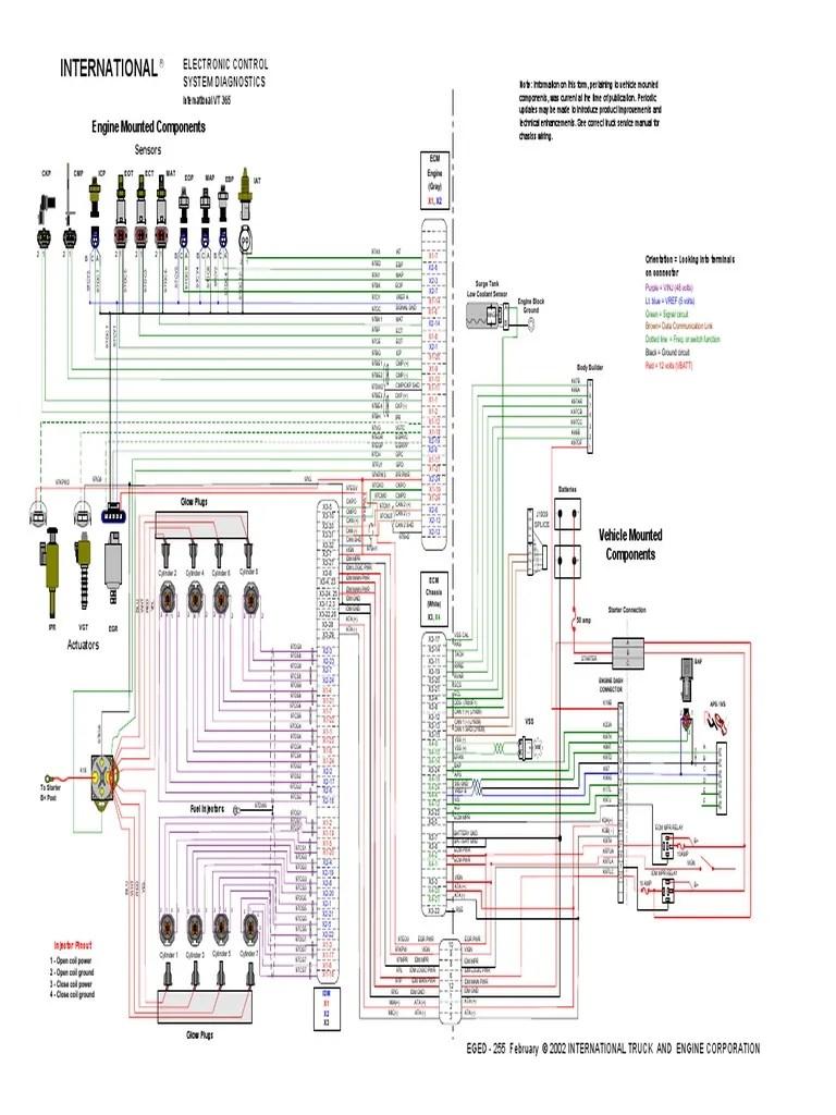 medium resolution of vt 365 engine schematic