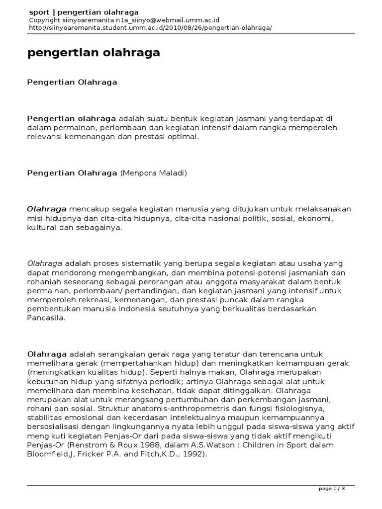 Pengertian Olahraga Permainan : pengertian, olahraga, permainan, Sport, Pengertian, Olahraga