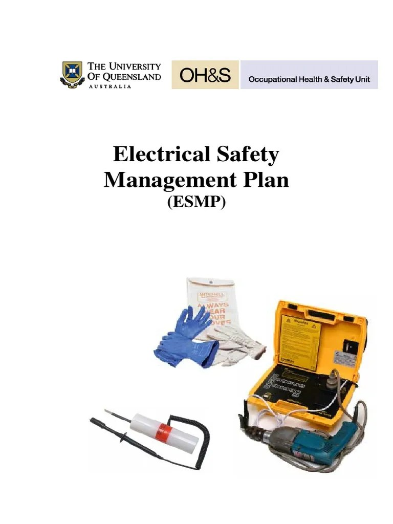 medium resolution of electrical safety management plan university queensland safety occupational safety and health