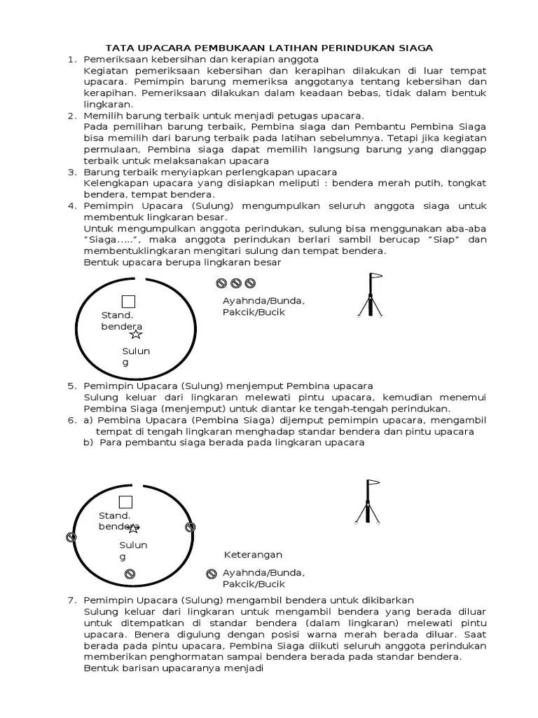 Upacara Pembukaan Latihan Siaga : upacara, pembukaan, latihan, siaga, Upacara, Pembukaan, Penutupan, Latihan