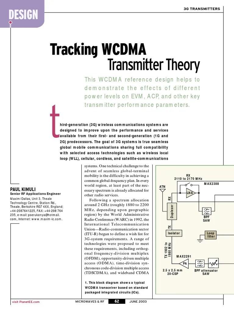 small resolution of  mwrf0306 tracking wcdma transmitter theory duplex telecommunications hertz
