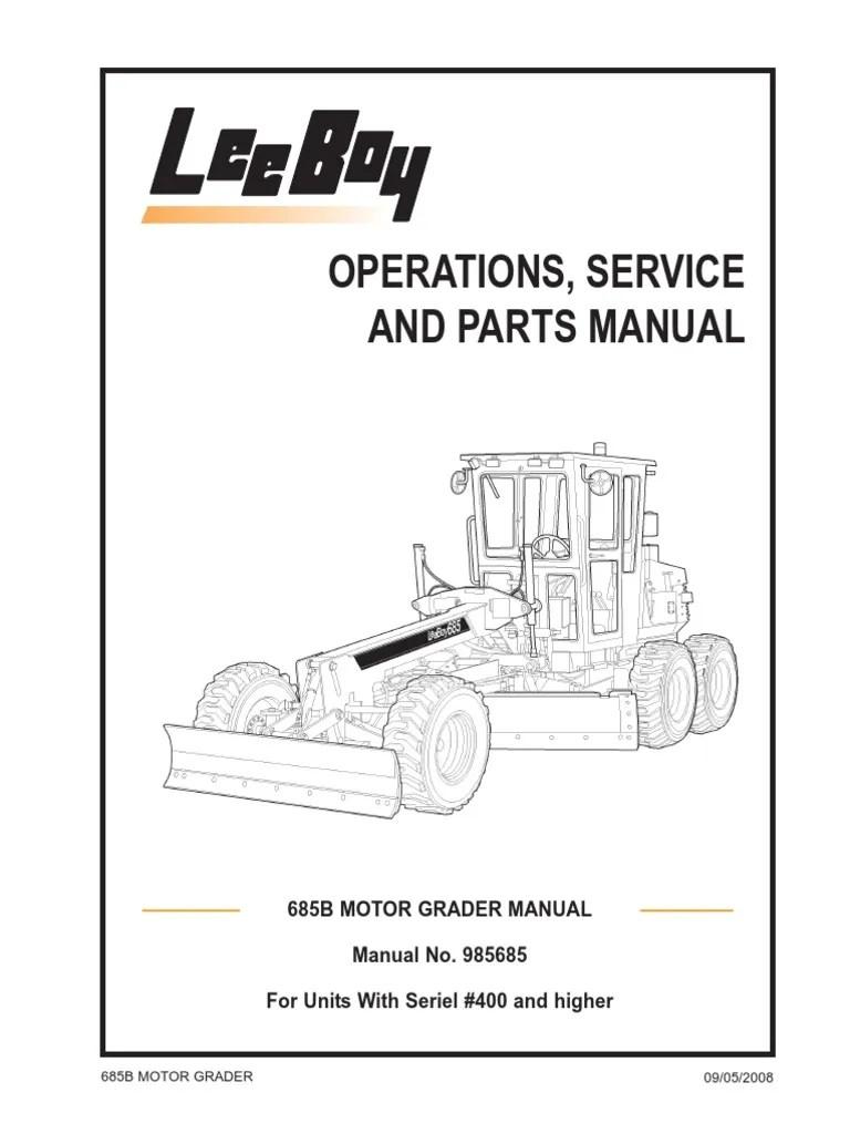 685B Motor Grader 09-08