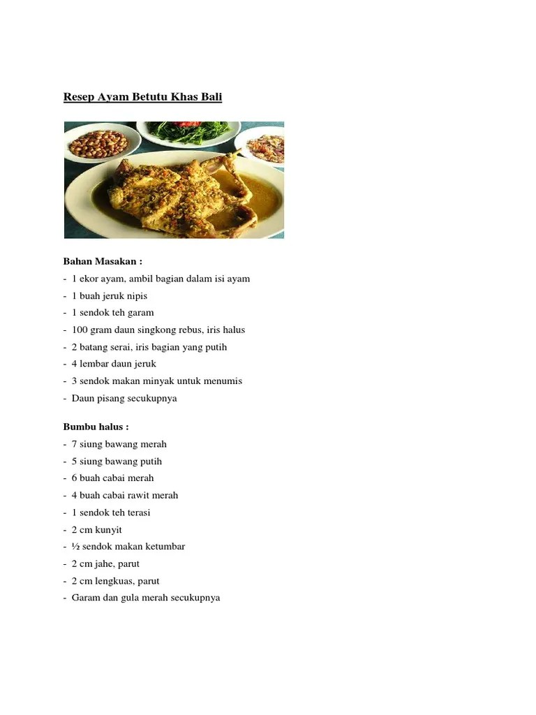 Resep Ayam Betutu Bali : resep, betutu, Resep, Betutu