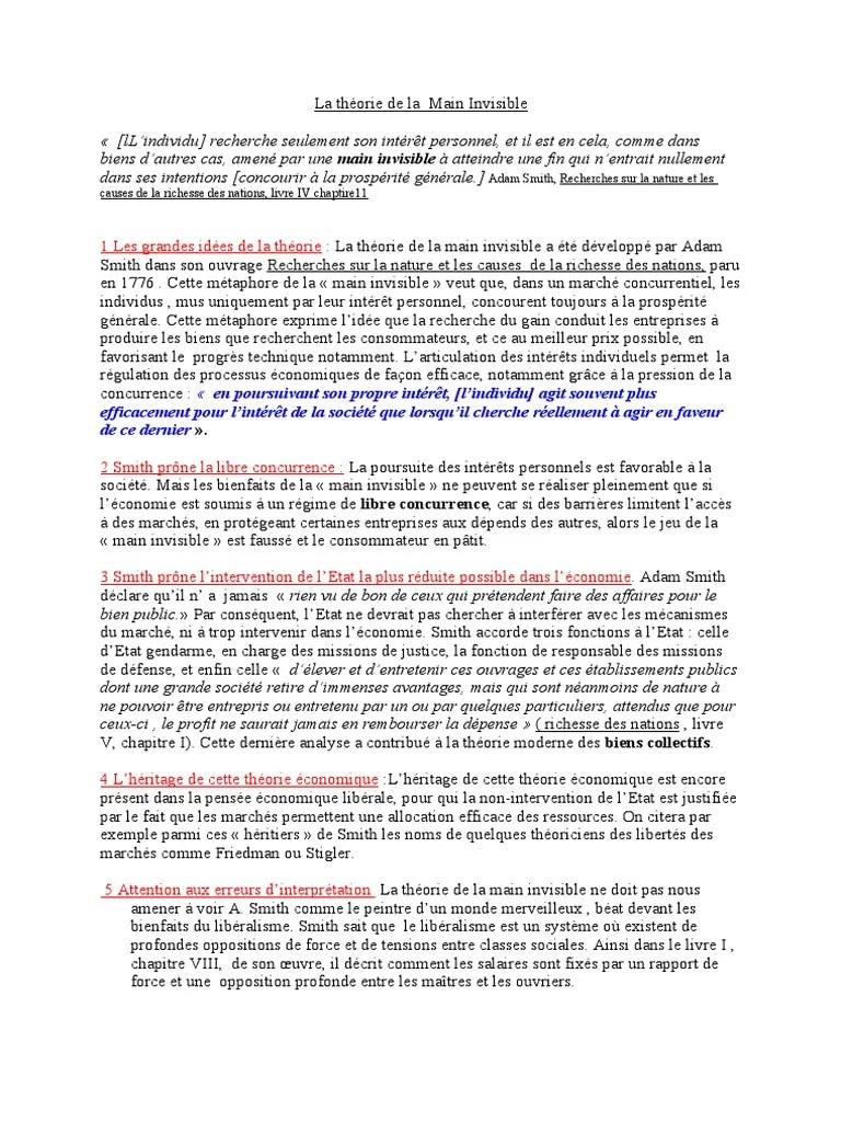 La Main Invisible Adam Smith : invisible, smith, Théorie, Invisible, Smith, Libéralisme