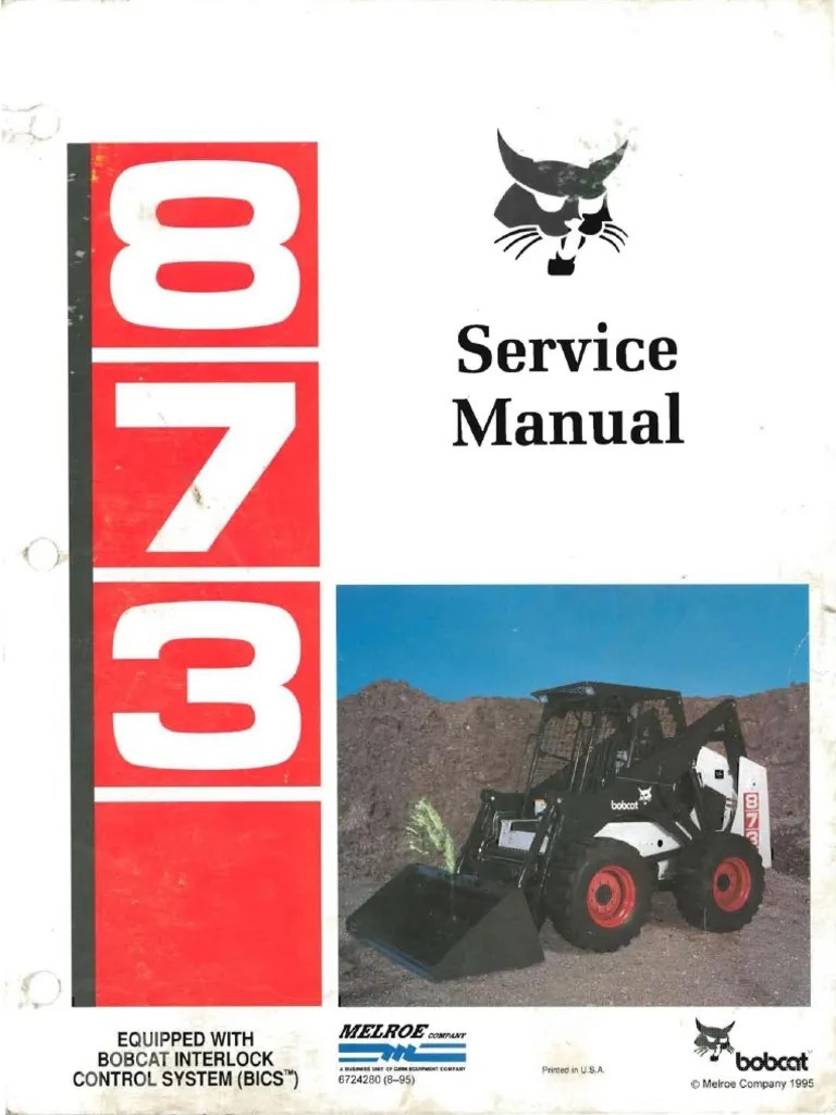medium resolution of bobcat 873 repair manual motor oil elevator bobcat s175 wiring diagram bobcat 873 wiring diagram