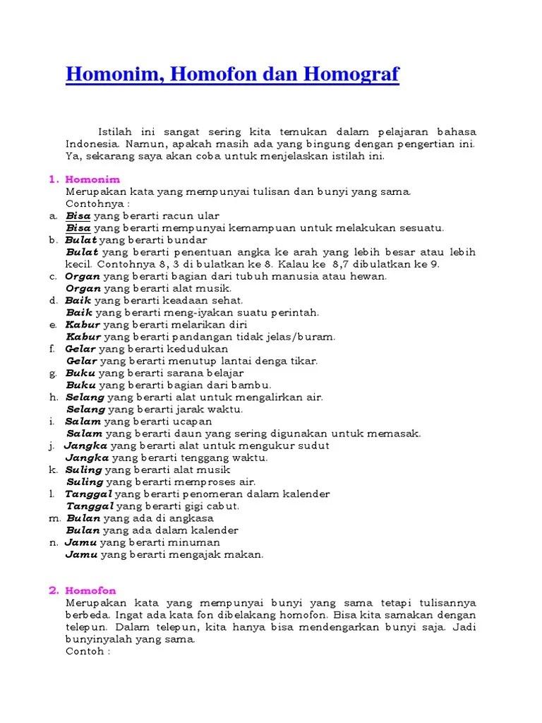 Contoh Kalimat Homograf : contoh, kalimat, homograf, Homonim, Homofon, Homograf.docx