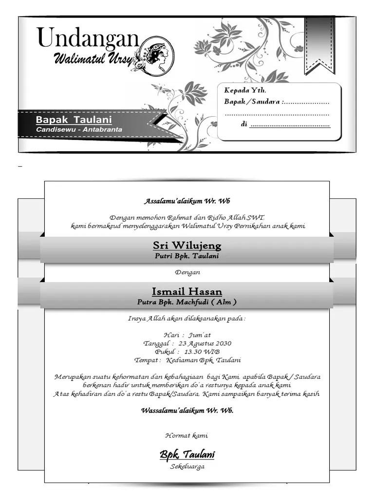 Cara Membuat Undangan Walimatul Ursy : membuat, undangan, walimatul, Undangan, Walimatul, [simple].docx